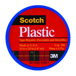 3M  Scotch  Blue  125 in. L x 3/4 in. W Plastic Tape