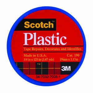 Scotch  Blue  125 in. L x 3/4 in. W Plastic Tape
