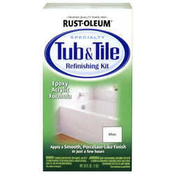 Rust-Oleum  Specialty  Gloss  White  Epoxy Acrylic  Tub and Tile Refinishing Kit  Indoor  1 qt.