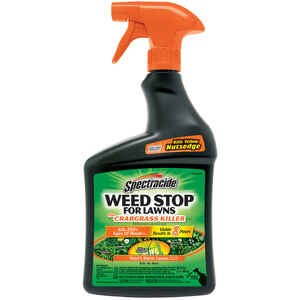 Spectracide  Weed Stop  RTU Liquid  Weed and Crabgrass Killer  32
