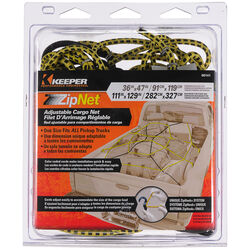 Keeper  Black/Yellow  Adjustable Cargo Net  0.14 in.  1 pk