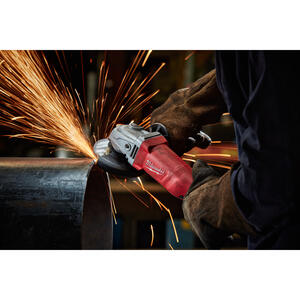 Milwaukee  Corded  11 amps 4-1/2 in. Small Angle Grinder with Lock-On  Bare Tool  11000 rpm