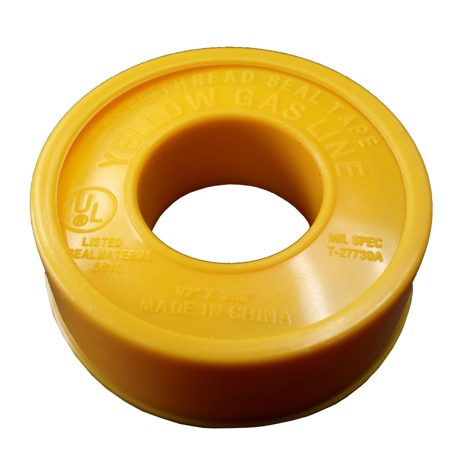 AA Thread Seal  Yellow  260 in. L x 1/2 in. W Thread Seal Tape  0.1 oz.