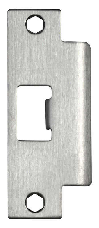 Tell  Satin  Silver  Stainless Steel  Strike Plate  1 pk