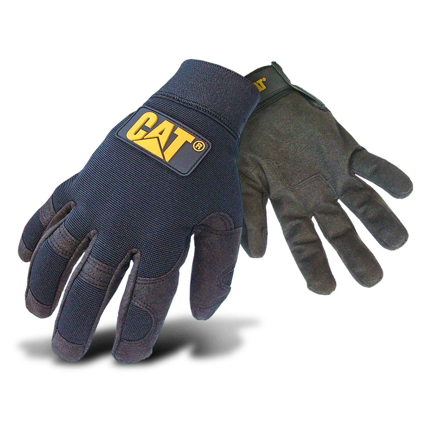 Caterpillar Men's Indoor/Outdoor Mechanic's Glove Black XL 1 pair
