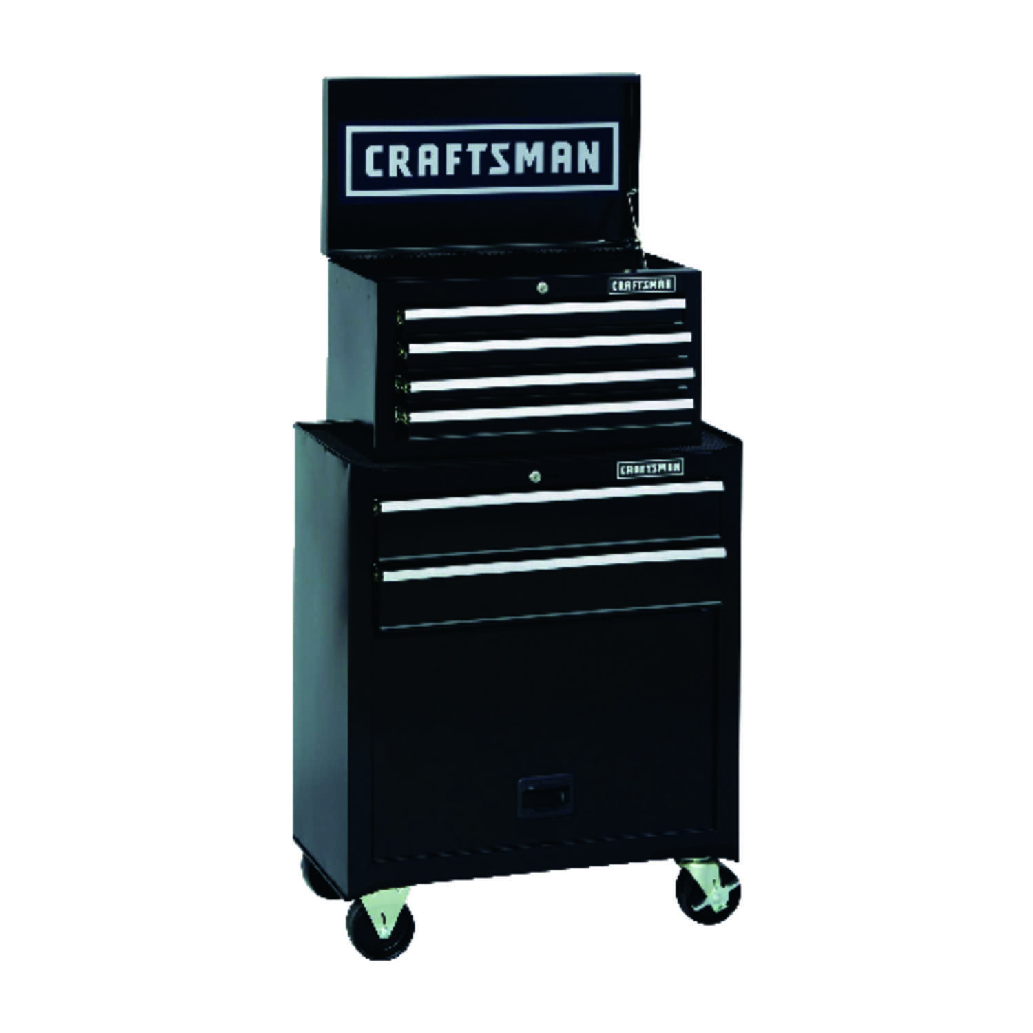f9e09087f7a Craftsman 26.5 in. 6 drawer Steel Rolling Tool Cabinet 44.25 in. H x 14 in.  D Black - Ace Hardware