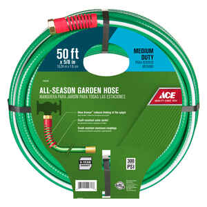 Ace  All-Season  5/8 in. Dia. Green  Hose  Medium-Duty