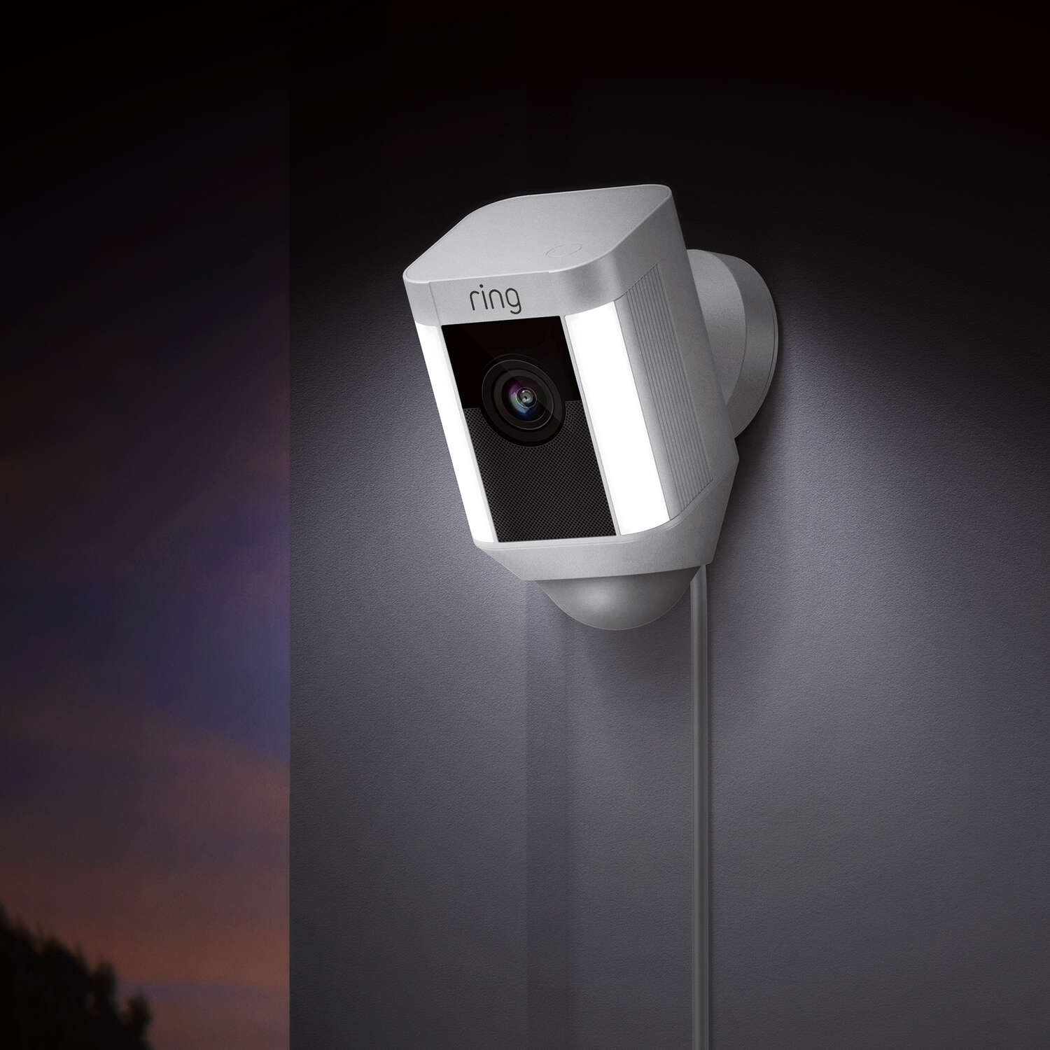 Ring  Hardwired  Indoor and Outdoor  White  Wi-Fi Security Camera