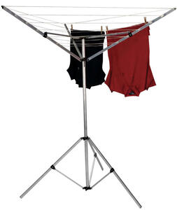 Household Essentials  52 in. L Silver  Aluminum  Umbrella Clothes Dryer