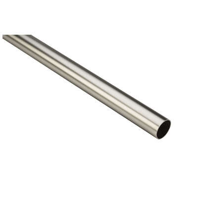 National Hardware 96 in. L x 1.32 in. Dia. Satin Nickel Steel Heavy Duty Closet Rod