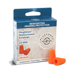 Plugfones ComforTwist 23 dB Soft Foam Replacement Ear Plugs Orange 5 pair