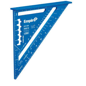 Empire  True Blue  7 in. L x 7 in. H Anodized Aluminum  Laser Etched  Rafter Square  Blue