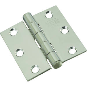 National Hardware  2.5 in. L Stainless Steel  Door Hinge  2 pk