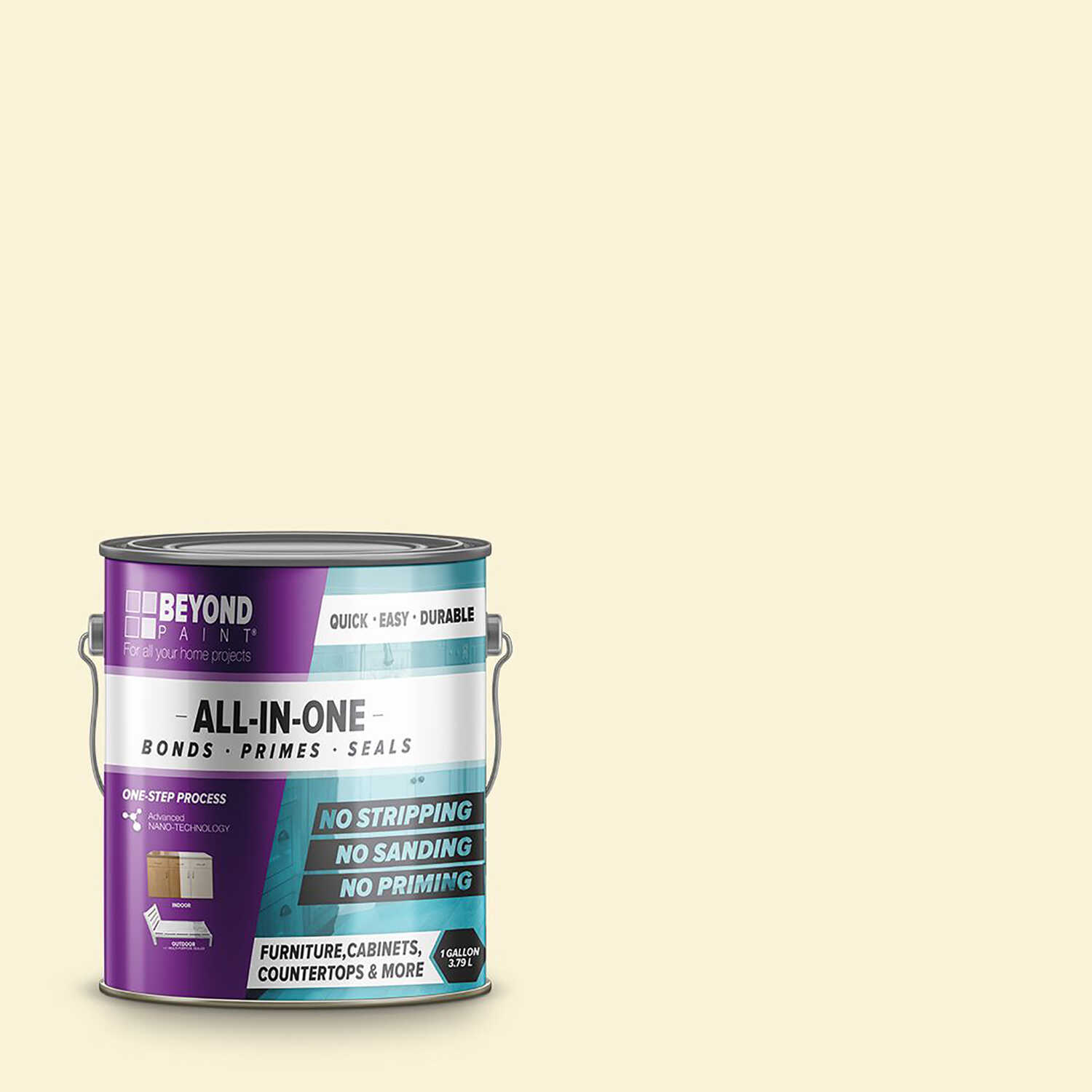 BEYOND PAINT  Matte  Off White  Water-Based  Acrylic  All-In-One Paint  1 gal.
