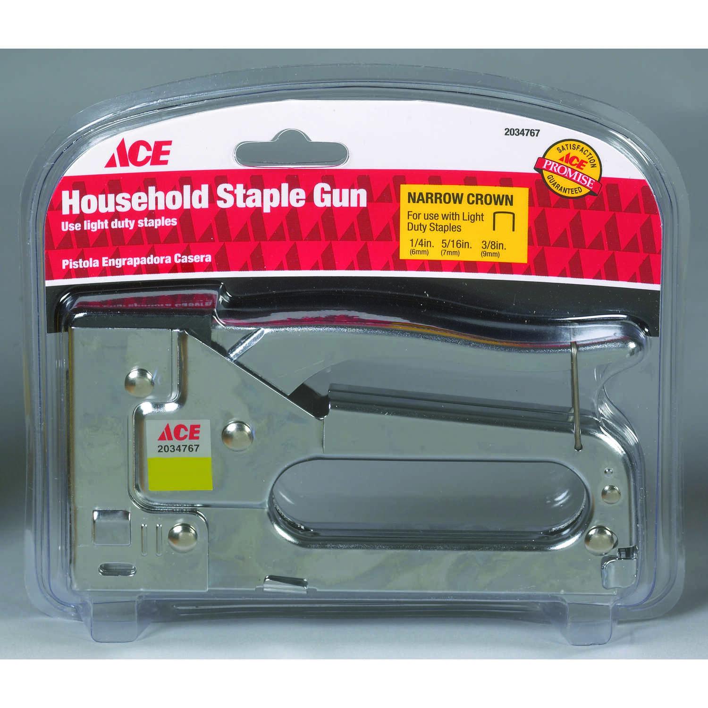 Ace 3/8 in  Flat Staple Gun Silver - Ace Hardware