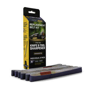 Work Sharp Outdoor  12 in. L x 0.5 in. W Silicon Carbide  Abrasive Belt  600 Grit Fine  6 pc.
