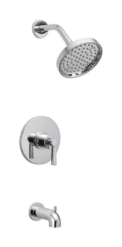 OakBrook  Coastal  Single Handle Tub and Shower  One Handle  Tub and Shower Faucet  Chrome  Brass