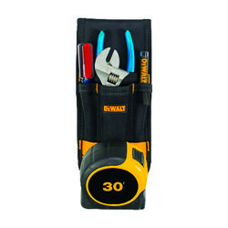 DeWalt  4 pocket Polyester Fabric  Tool Holder  3.7 in. L x 8.7 in. H Black