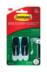 3M  Command  Medium  Plastic  Hook  2-1/6 in. L 2 pk