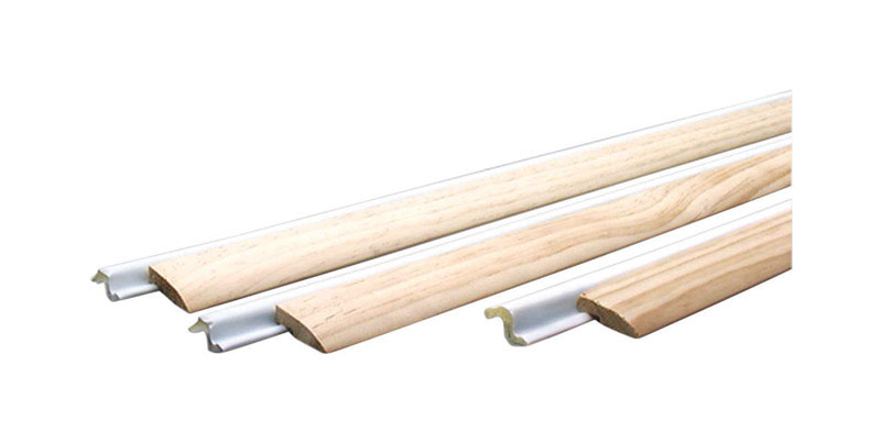 M-D Building Products  White/Brown  Wood/Foam  36 and 84 in. L x 1/2 in.  For Door Weather Stripping