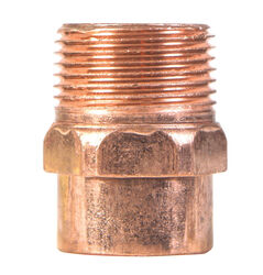 Mueller Streamline 1 in. Copper x 1 in. Dia. MIP Copper Pipe Adapter
