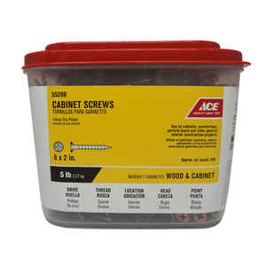 Ace  No. 6   x 2 in. L Phillips  Yellow Dichromate  Cabinet Screws  5 lb. 920 pk