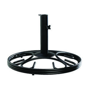 Living Accents  Black  Cast Iron  13 in. H Umbrella Base