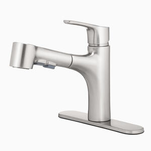 Oakbrook Tucana One Handle Brushed Nickel Pull Out Kitchen Faucet