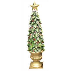 puleo christmas tree holiday decoration multicolored resin 1 each