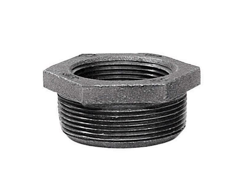 BK Products  1-1/2 in. MPT   x 1 in. Dia. FPT  Galvanized  Malleable Iron  Hex Bushing