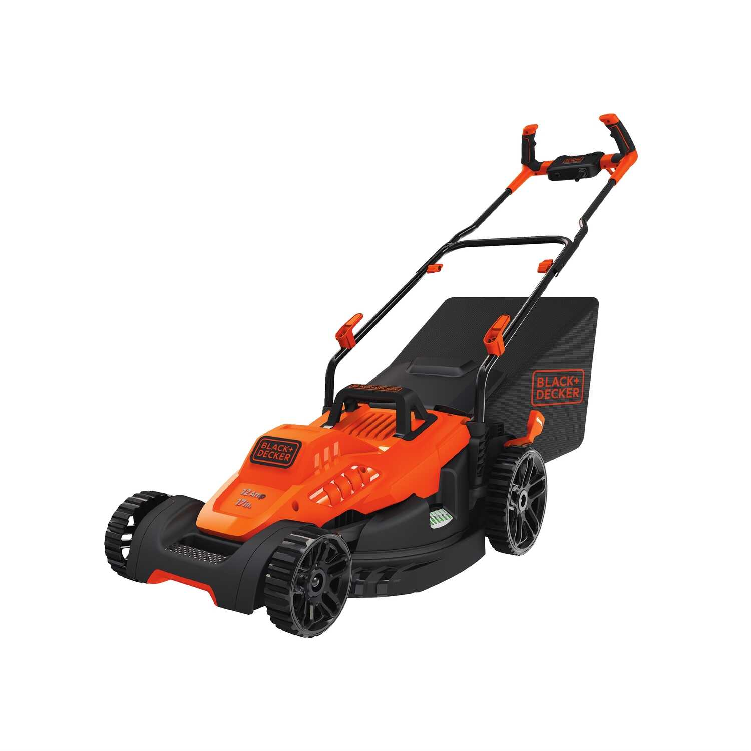 Black and Decker  17 in. W Corded Electric  Lawn Mower