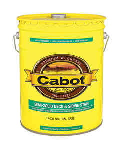 Cabot  Semi-Solid  Tintable Neutral Base  Oil-Based  Natural Oil/Waterborne Hybrid  Deck and Siding