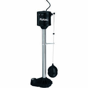 Flotec  1/3 hp 3480 gph Cast Iron  Submersible Sump Pump Pedestal