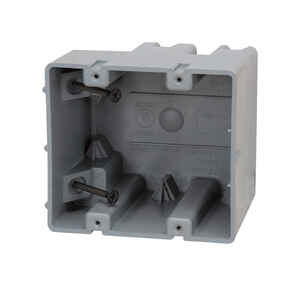 Madison Electric  Smart Box  3.75 in. Rectangle  PVC  2 gang 2 Gang  Gray  Electrical Box
