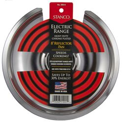 Stanco  Chrome Plated  Reflector Pan  8 in. W