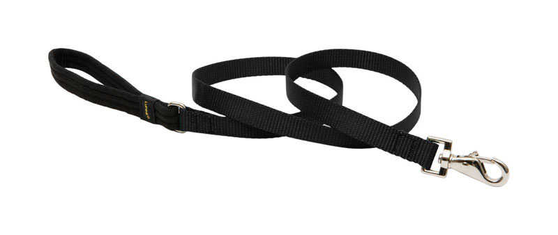 Lupine Pet  Basic Solids  Black  Nylon  Dog  Leash