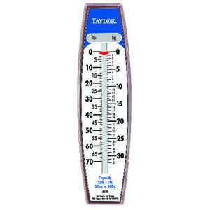 Taylor  Analog  Hanging Scale  70 Weight Capacity White