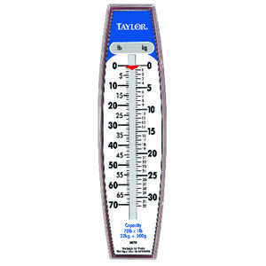 Taylor  White  Analog  Hanging Scale  70 Weight Capacity