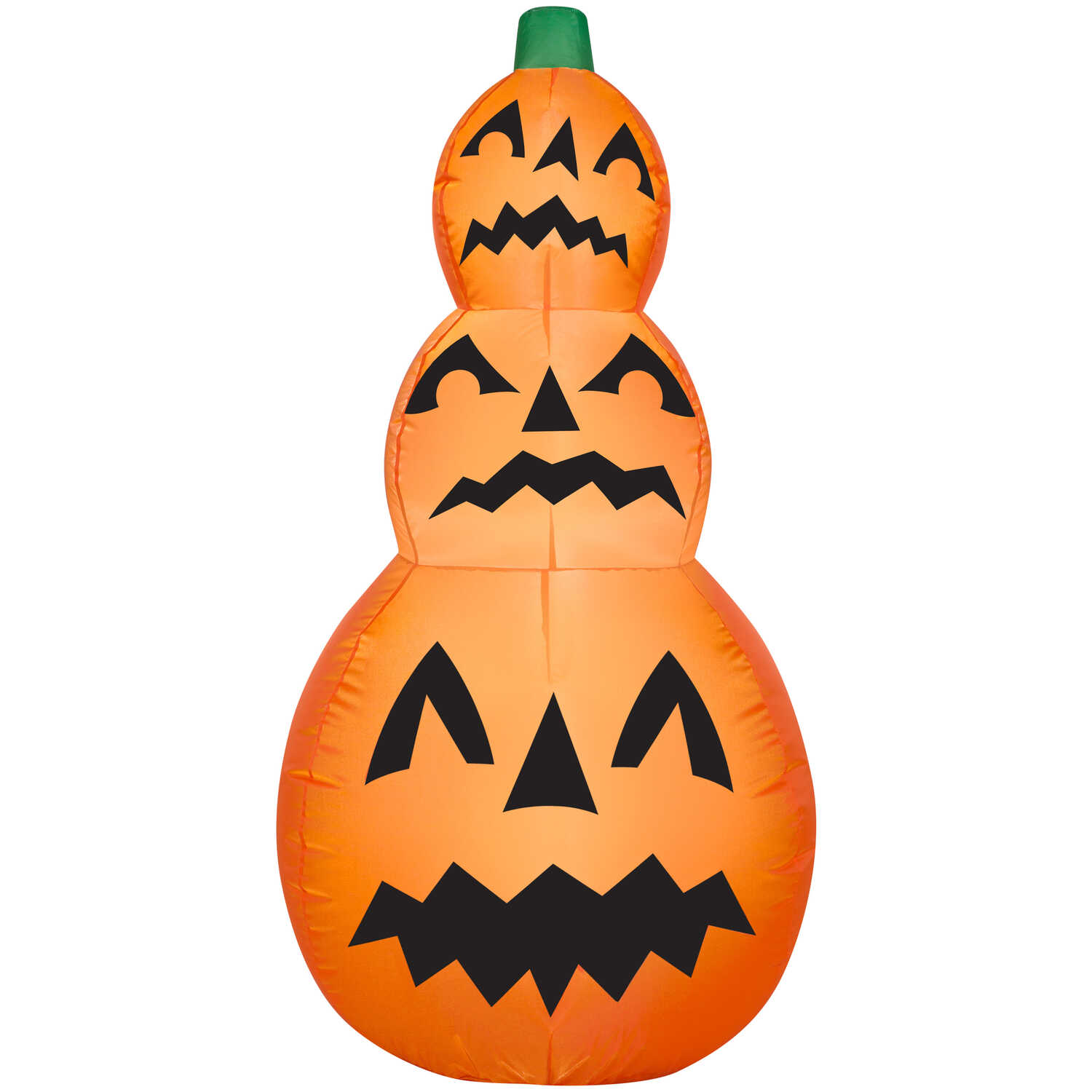 Gemmy  Stacked Jack-o'-lanterns  Halloween Inflatable  42 in. H 1 pk
