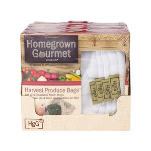 Architec  Homegrown Gourmet  Reusable Produce Bags  4 pk White