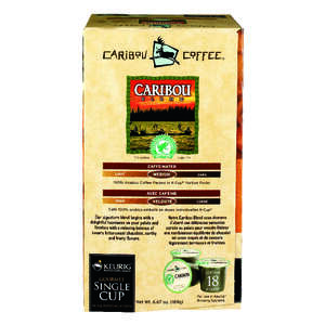 Keurig  Caribou Coffee  Medium Roast  Coffee K-Cups  18 pk