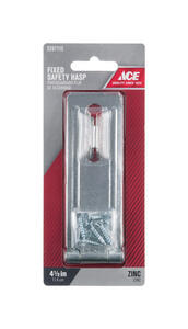Ace  Zinc  4-1/2 in. L Fixed Staple Safety Hasp
