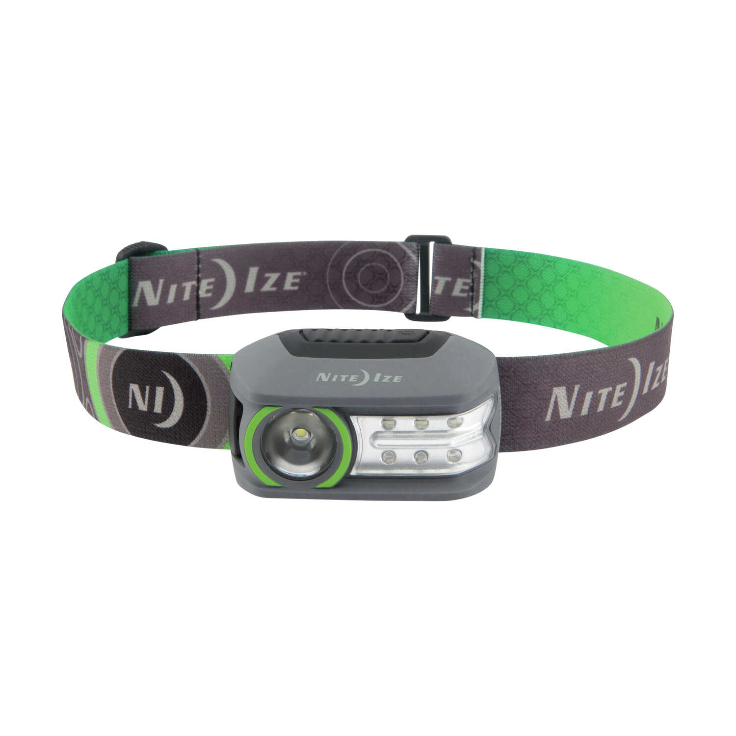 Nite Ize  Radiant  250 lumens Gray/Green  LED  Head Lamp  LifePO4 Battery