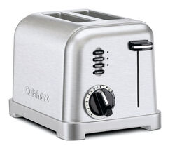 Cuisinart  Stainless Steel  Silver  2 slot Toaster  7.13 in. H x 7.13 in. W x 10.75 in. D