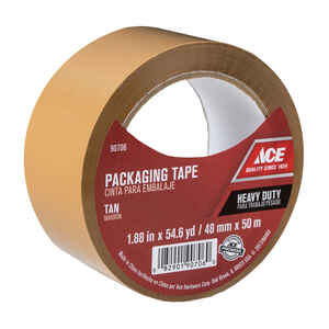 Ace  1.88 in. W x 54.6 yd. L Packaging Tape  Tan