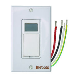Woods  Indoor  7 Day Digital In Wall Timer  120 volt White