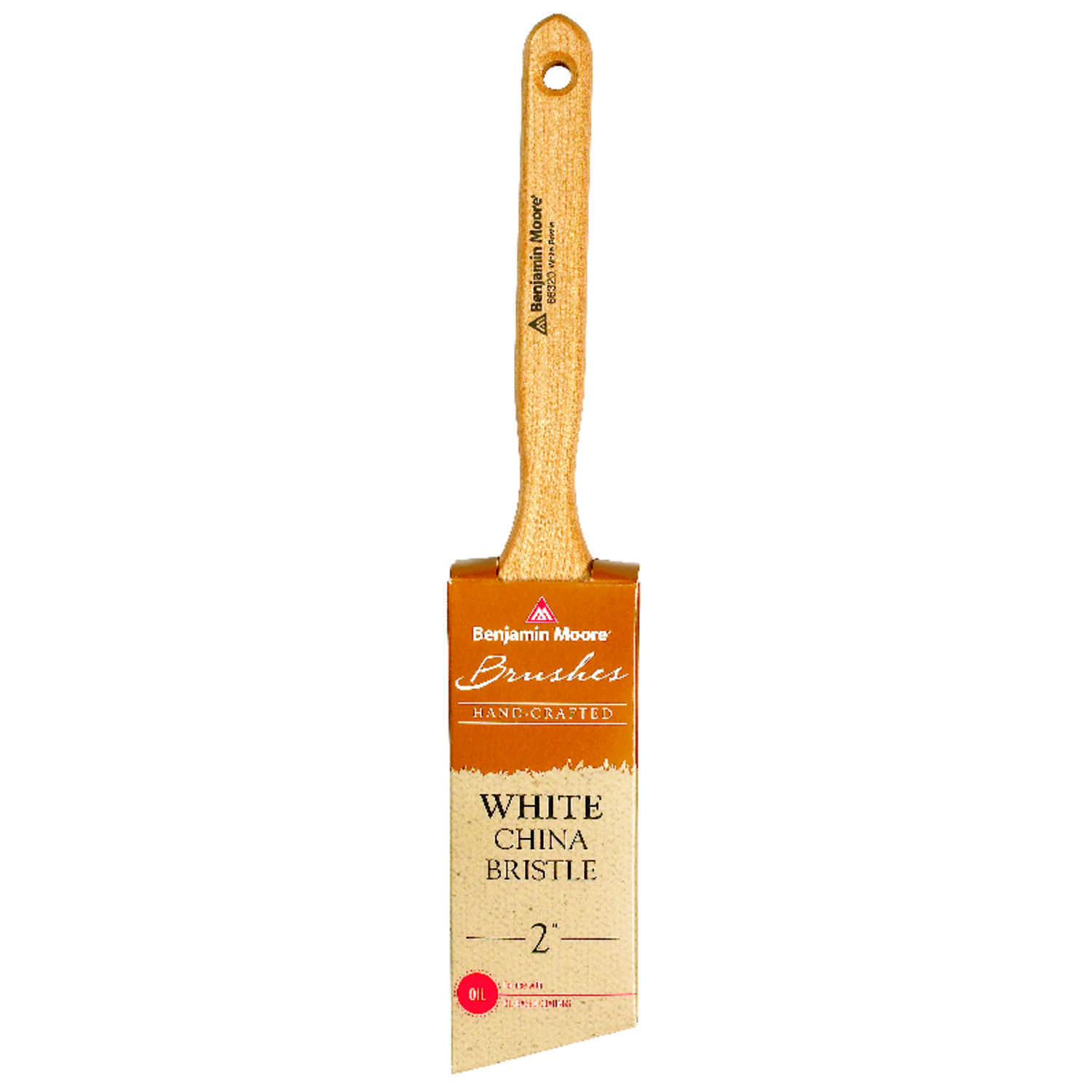 Benjamin Moore  2 in. W Angle  White China Bristle  Paint Brush