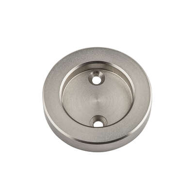 National Hardware  2-1/8 in. L Satin Nickel  Silver  Steel  Round Mortise Pull