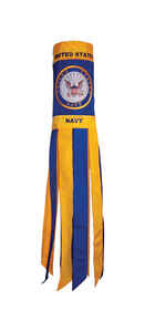In the Breeze  US Navy  40 in. H x 6 in. W Windsock