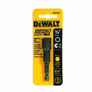 DeWalt  Impact Ready  3/8 in.  x 2-9/16 in. L Black Oxide  1/4 in. Nut Driver  1 pc. Quick-Change He